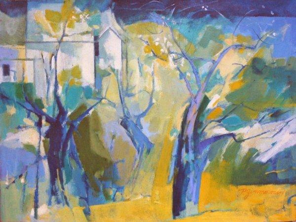 3: ZIMMERMAN (AMERICAN) Summer Landscape Oil