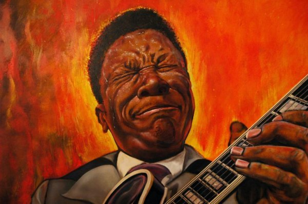 17: HARRIS (AMERICAN) B.B. King (Blues Legend) Oil