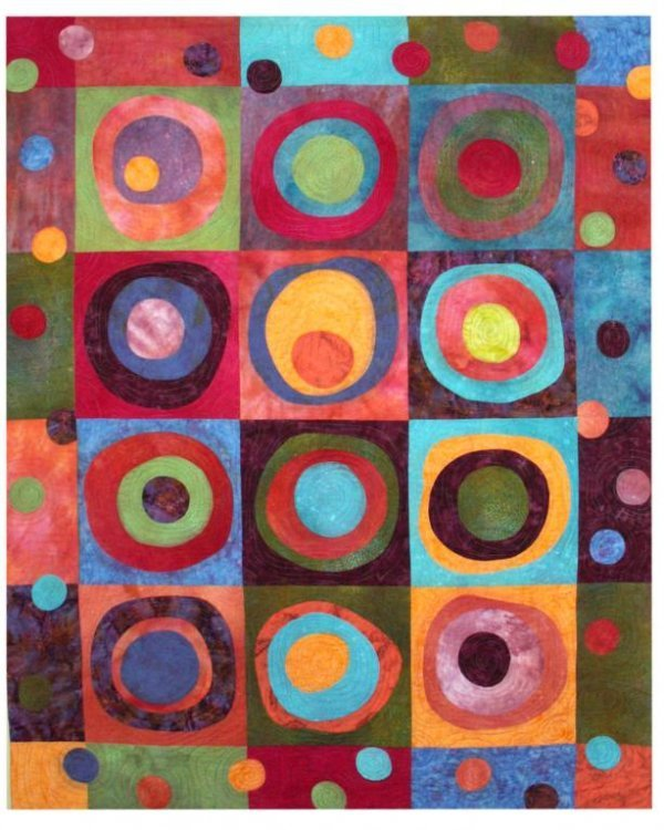 1001: BUSBY (AMERICAN) Inner Circle Quilt