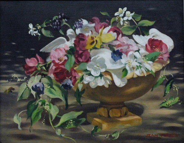 1012: FORBES (CANADIAN) Floral Still Life Oil