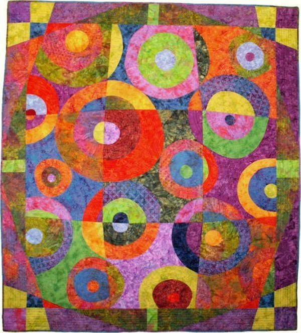 1015: BUSBY (AMERICAN) Circle Game I Quilt