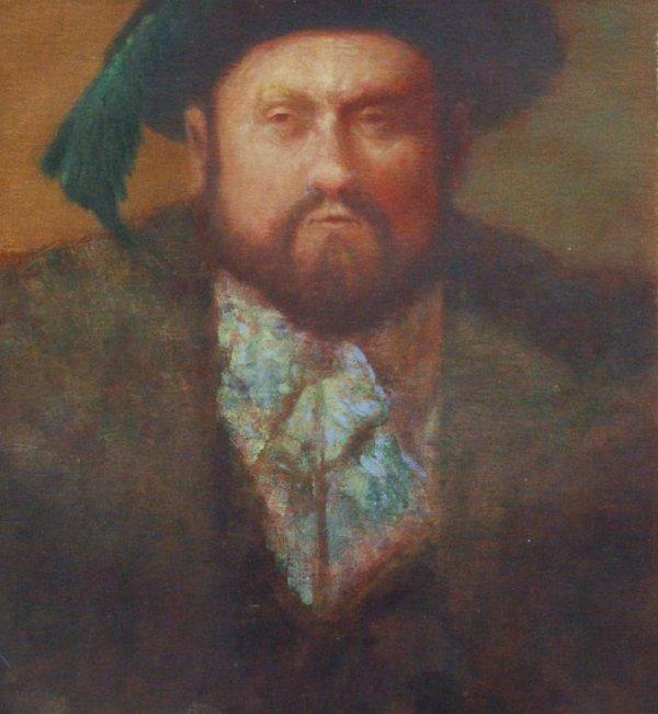1018: THOMPSON (AMERICAN) Henry VIII Oil