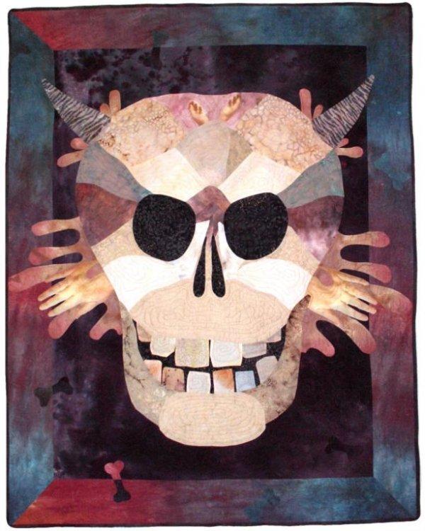 1023: BUSBY (AMERICAN) Mr. Bones Quilt