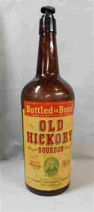 """Old Hickory Bourbon"" Display Glass Bottle"