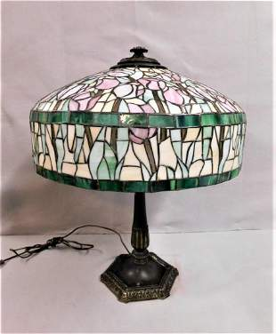 Leaded Parlor Table Lamp