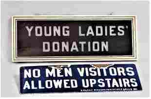 Lot of 2 Vintage Signs
