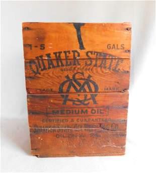 "Vintage ""Quaker State Oil"" Box"