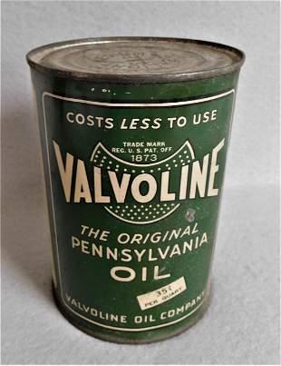 """Vintage """"Valvoline"""" Oil Can"""
