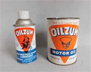 "Lot of 2 Vintage ""Oilzum"" Advertising Pcs."