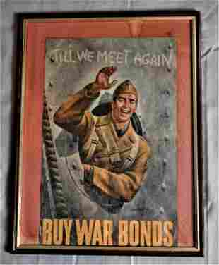 Vintage WWII Paper Poster
