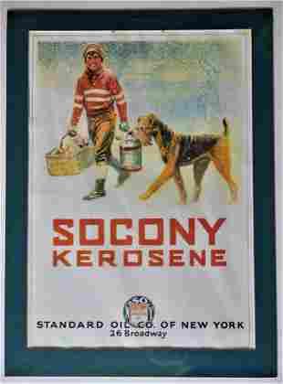 Vintage Socony Kerosene Magazine Poster