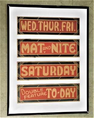 Vintage Lot of 4 Pcs. of Theater Ephemera
