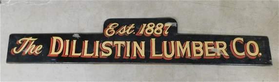 Vintage Lg. Dbl. Sided Metal Lumber Co. Sign