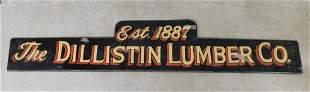 Vintage Lg. Dbl. Sided Porcelain Lumber Co.Sign
