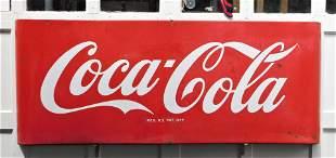 """Lg. Vintage Porcelain """"Coca-Cola"""" Sign"""