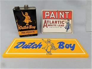 "Antique 'Dutch Boy"" Linseed Oil Can"