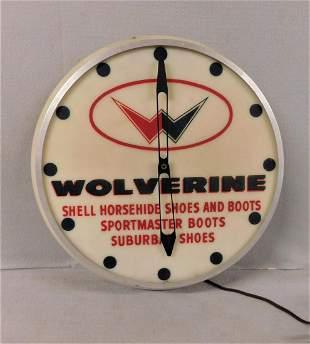 "Vintage ""Wolverine Shoes & Boots"" Clock"
