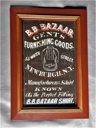 Early Handpainted Showcard Advertisement