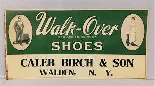 """Tin Sign for """"Walk-Over Shoes -Walden, NY"""