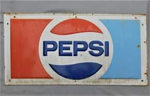 "Vintage Lg. Metal ""Pepsi"" Sign"