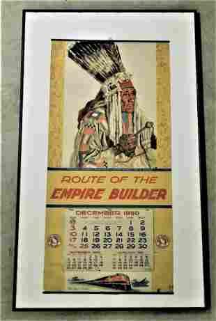 "1950 Framed ""Northern Railway"" Calendar"