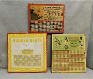 Lot of 3 Vintage Advertising Punch Cards