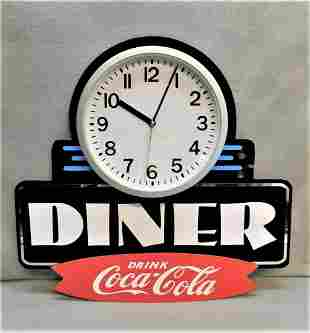 "Custom ""Coca-Cola"" Diner Clock"