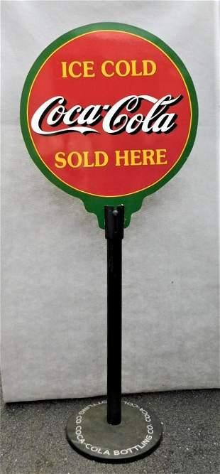 "Custom Curbside 'Coca-Cola"" Sign"