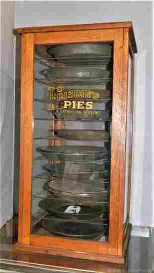 "Great Vintage Oak ""Frisbie's Pies"" Safe"