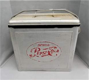 "Vintage Metal ""Pepsi-Cola"" Cooler"