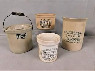 Vintage Lot of 4 Pcs.Stoneware Vendor