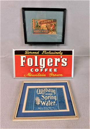 Vintage Lot of 3 Advertising Signs