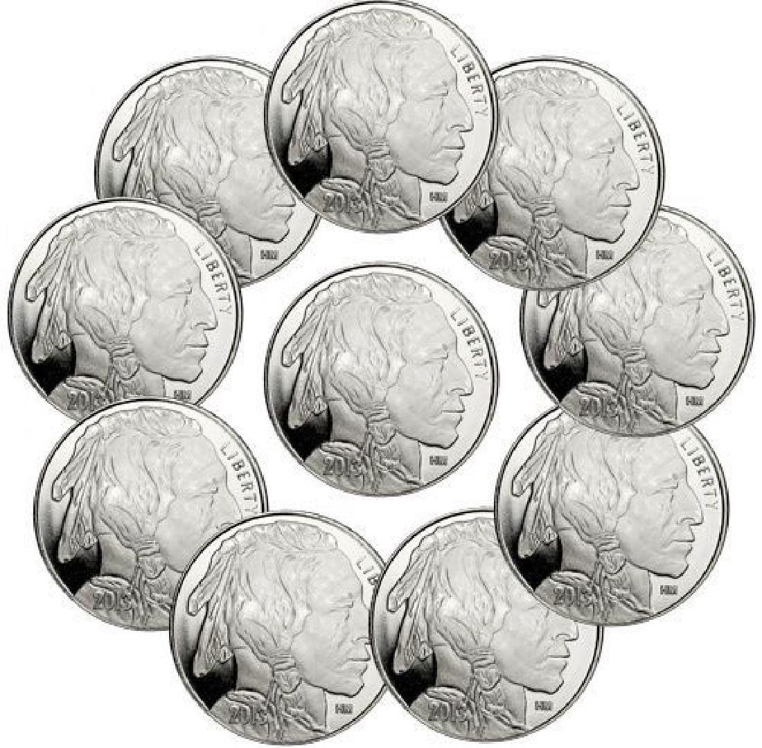 (10) Buffalo Design Silver Rounds 1 oz each