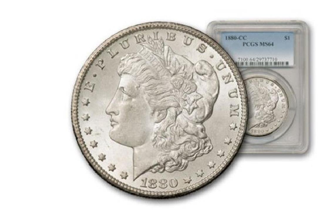 1880 CC PCGS MS 64 Morgan Silver Dollar