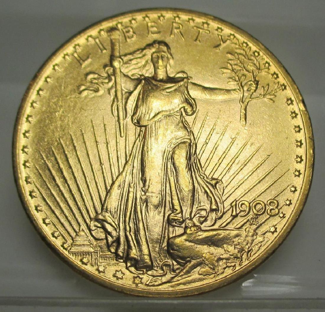 1908 $ 20 Gold Saint Gauden's High Grade
