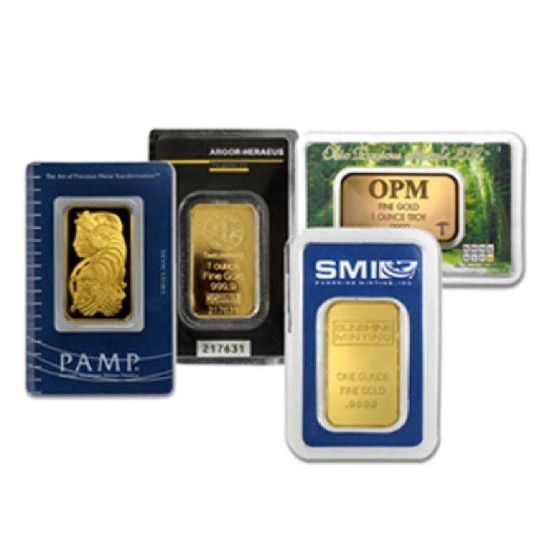 (1) 1 oz. Pure Gold Bullion Bar various maker