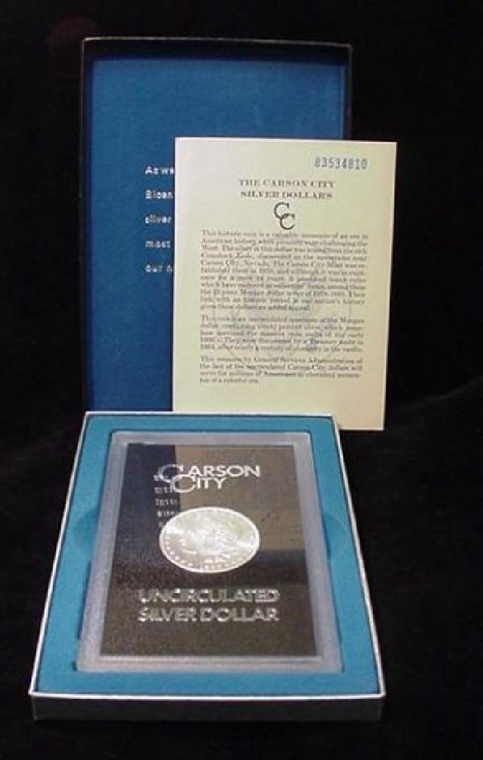 1883 Carson City Key Date GSA Morgan Dollar