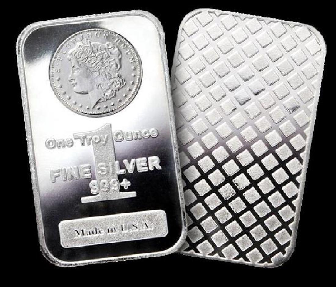 Lot of 10 MORGAN DESIGN Silver Bullion Bars