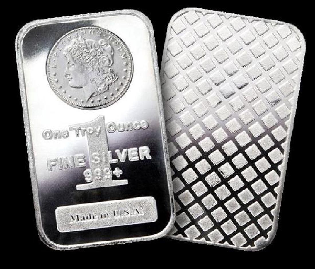 Lot of 10 MORGAN DESIGN Silver Bullion Bars