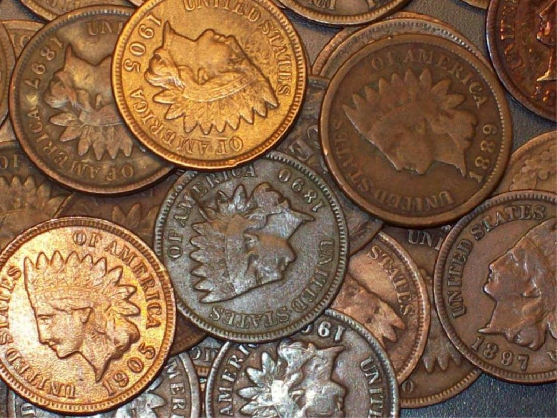 Lot of 10 Indian Head Pennies-1900s-c-fine