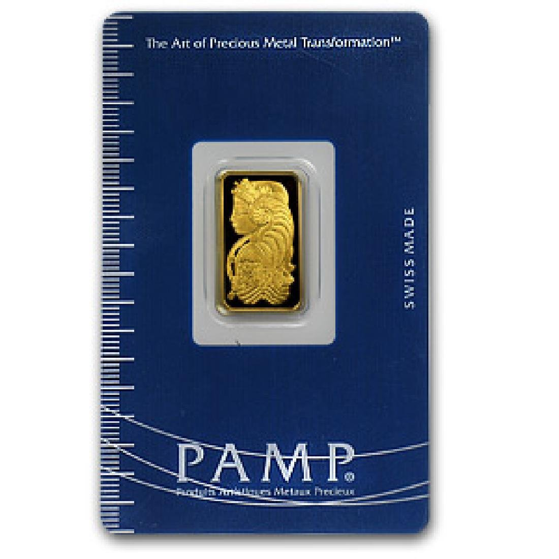 5 Gram Pamp Suisse Gold Ingot