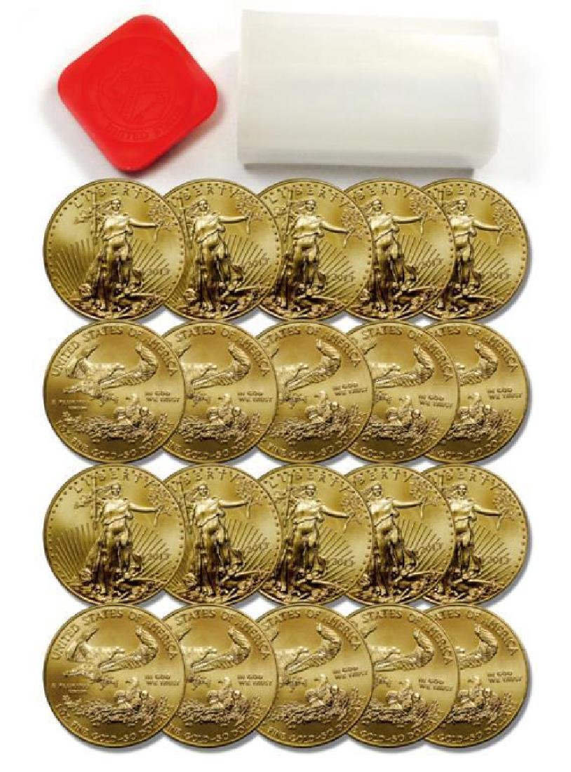 ROLL of (20) US 1oz. GOLD Eagles