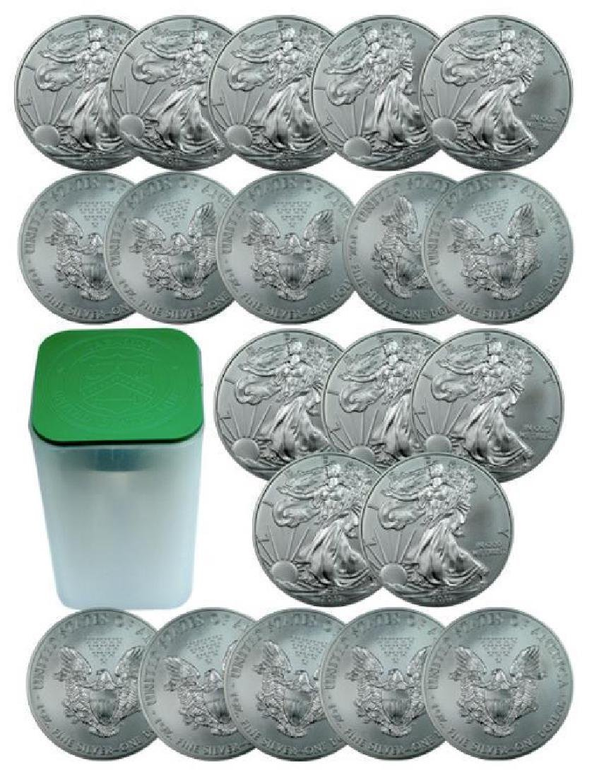 (20) ROLL full of US Silver Eagle 1 oz