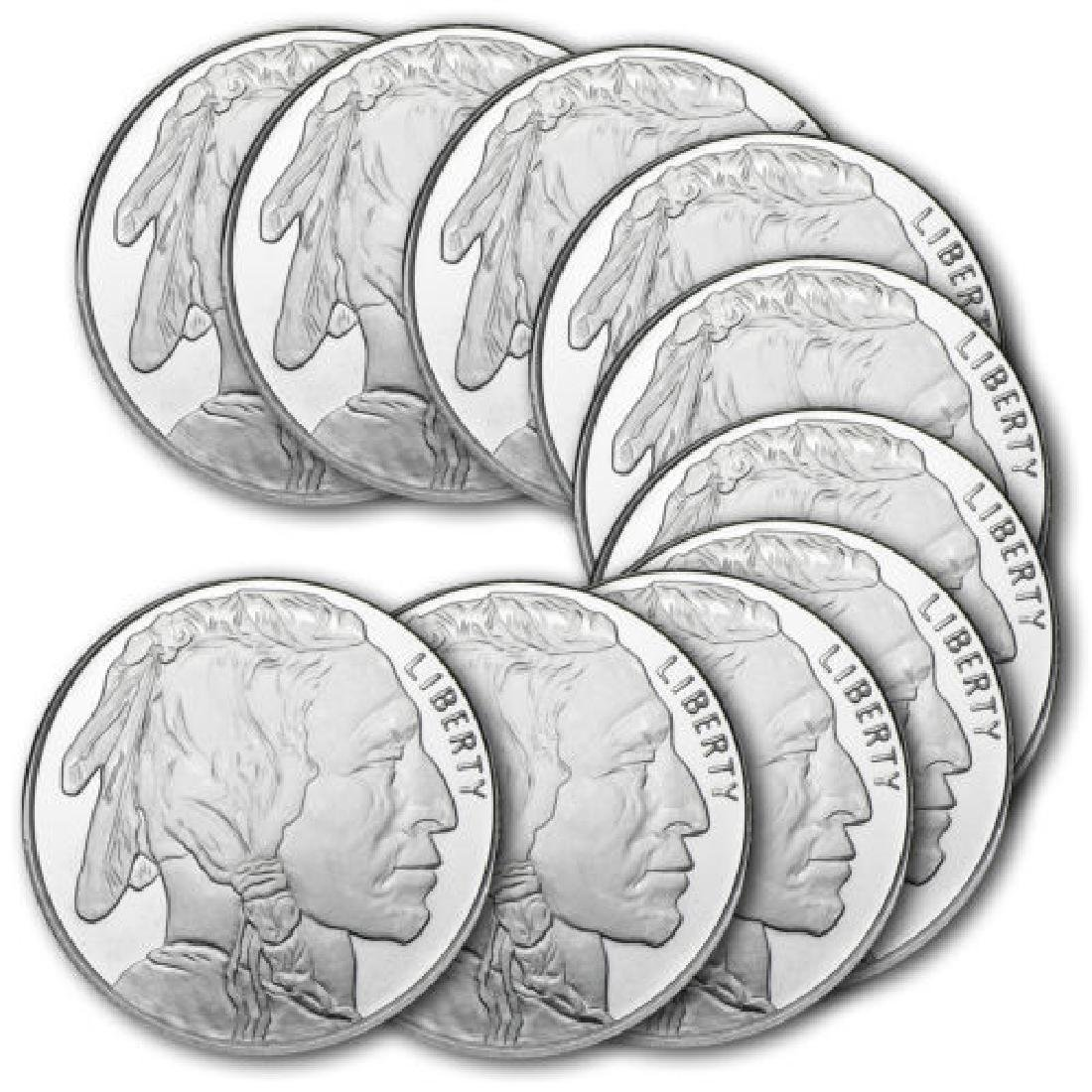 (10) 1 oz Bufflao Private Mint Rounds
