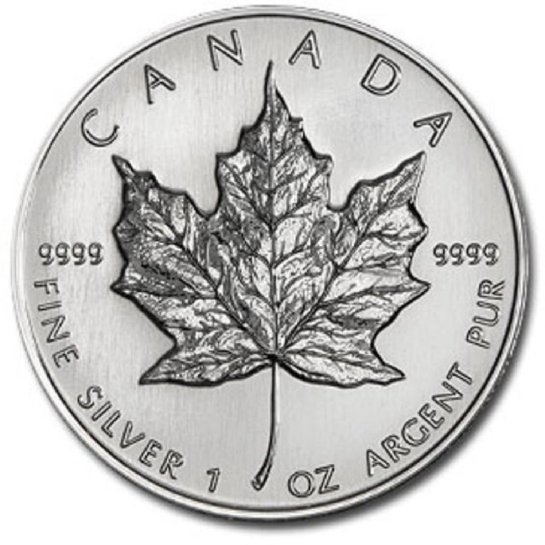 1 oz. Silver Canadian Maple Leaf Random Date