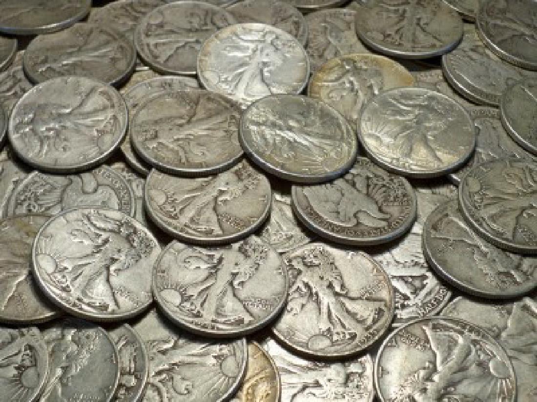 Lot of (40) Walking Liberty Half Dollars