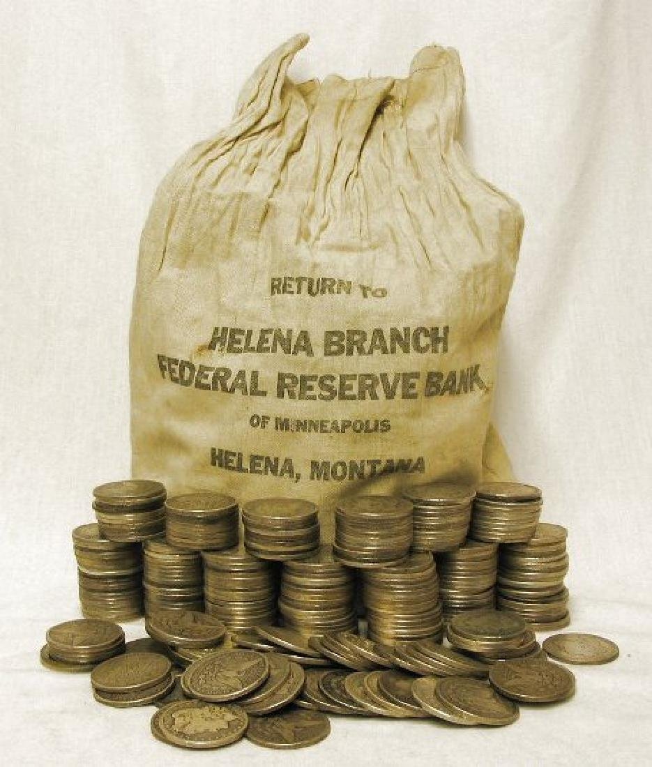 (500) Morgan Silver Dollars in Bank Bag
