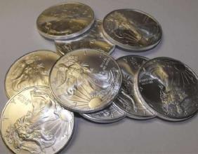 Lot of (10) Random Date Silver Eagles