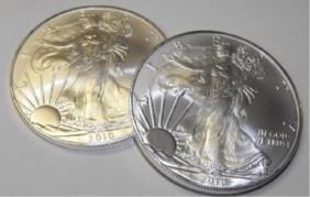 (2) US Silver Eagles 1 oz. Random Dates