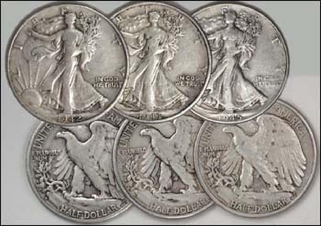 3-Coin World War II Walking Liberty